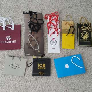 Paperbag from jewelry brand