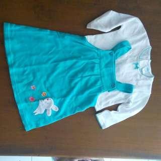 Kaos dress anak