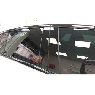 【騰信車體包膜】M-Benz GLC門柱BC柱美國犀牛皮保護膜包膜