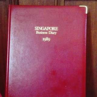 Unused 1989 hardcover business diary