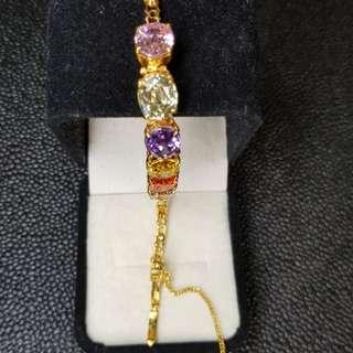 Stone & Gold Bracelets