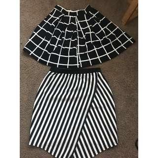 BOOHOO two skirts