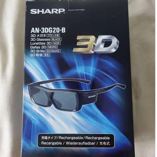 Brand new Sharp AN-3DG20-B 3D Glasses For Sale