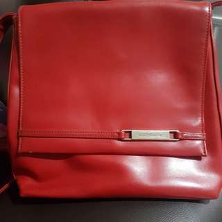 REPRICED! Liz Claiborne Red Leather Sling Bag