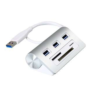 (BN) CATECK USB 3.0 3-Port Hub with Multi-in-1 3-slots Card Reader Combo for for iMac, MacBook Air, MacBook Pro, MacBook, Mac Mini, PCs and Laptops (Brand New)