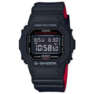 Casio G-Shock DW-5600 dual tone Red/Black Watch