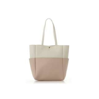 Ready Stock BN Colors By Jennifer Sky Ivory/Light Pink Dual Tone Large Tote Bag