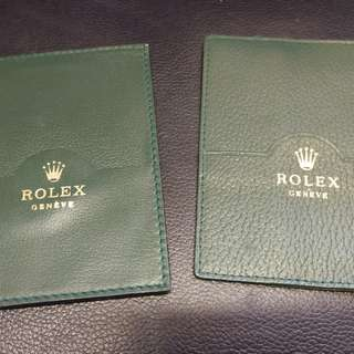 Rolex 綠色 証件套 不同花紋 二個
