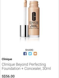 BN Clinique Beyond Perfecting Foundation + Concealer 30ml