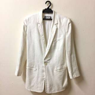 Vintage DKNY Cream Linen Long Blazer
