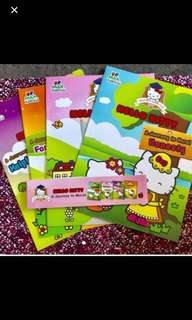 全新:4本Hello kitty 英文德行書new English moral book Sanrio fan