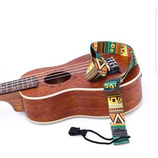 Adjustable Colorful Polyester Ukulele Strap Belt Music Guitar Accessory Bundle