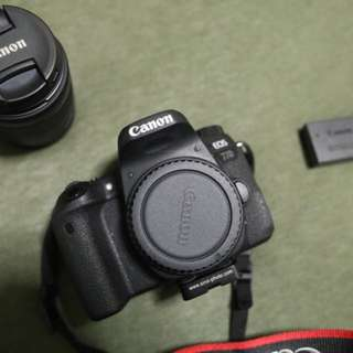 Canon 77D with 15 - 55mm kit lens(still on warranty)