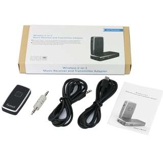 (BNIB) SMOF 2-in-1 3.5mm Wireless Bluetooth Transmitter and Receiver Adapter Car Kit (Brand New Boxed)