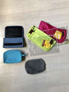 5 pcs Makeover & Toiletry Bags