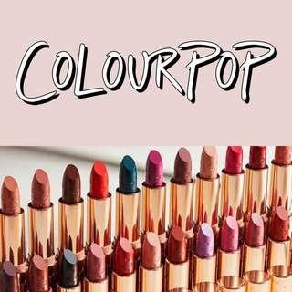 Colourpop Preorder ★彡 1.40 / CLOSED