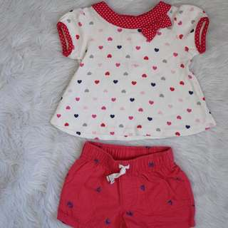 Terno for baby girl 6mos on tag