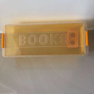 Plastic book storage box