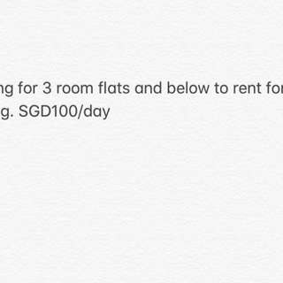 Rent for filming