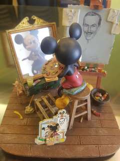 Mickey painting Walt Disney.