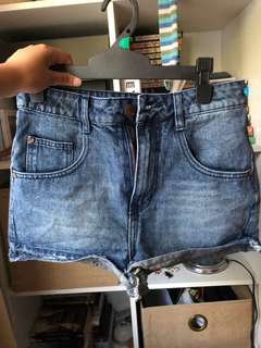 Denim dark blue shorts size aus 8 or USA 4