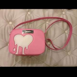 Love Moschino Pink Melted Heart Crossbody Bag