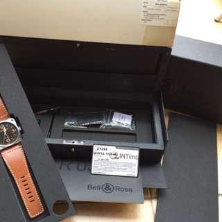 Bell & Ross BR 03-92 golden heritage 42mm fullset box ex intime