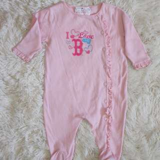 Pink Overall for 3-9mos