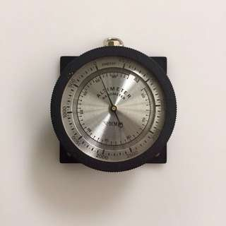 Altimeter Barometer YCM - Rare Vintage Collectible - Japanese-Made