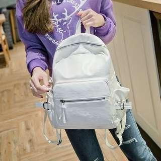 White Korean Backpack