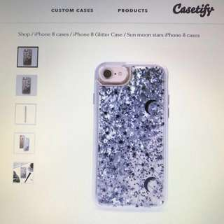 Brand New Casetify iPhone Glitter Case 全新銀色閃粉手機殼