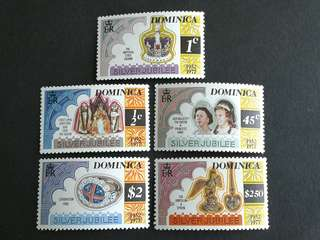 1977 British colonies Dominica unused set#2a