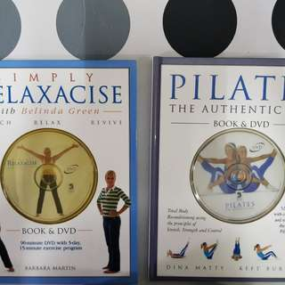 1) Pilates: The Authentic Way  2) Simply Relaxacise