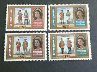 St.Lucia unused set#3a