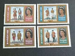 St.Lucia unused set#3b