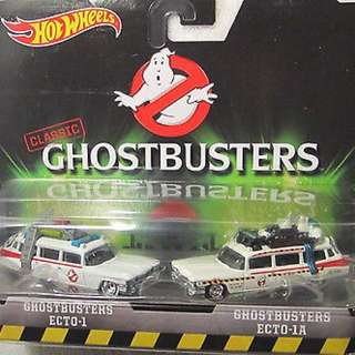Hotwheels Ghostbuster Ecto 1 and Ecto 1a
