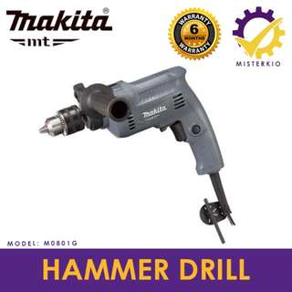 "MAKITA MT SERIES 16mm 5/8"" HAMMER DRILL 500W - M0801G"