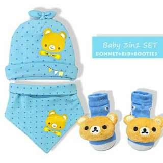 Baby Bonnet Set - BLUE