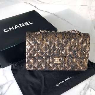 Chanel 2.55 gold & black handbag
