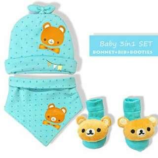 Baby Bonnet Set - GREEN