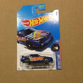 Hot wheels '96 Nissan 180sx Blue US Card