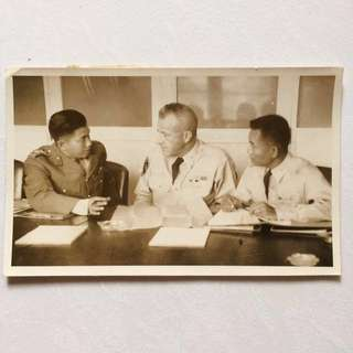 Vintage Old Photo - old Black & White Photograph showing a Talk related to Chinese Nationalist Government & Burma  (photo was sent to Press for publishing) (18 by 11 cm) (rare)
