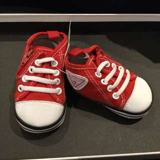 Red Guess Baby shoes 0-6M an 6-12M