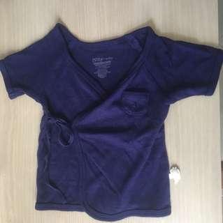 PL Spring maternity baby dark blue top (0-3 months)