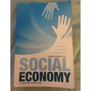Understanding the Social Economy by Quarter, Mook, and Armstrong