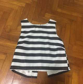Love and bravery striped sleeveless top