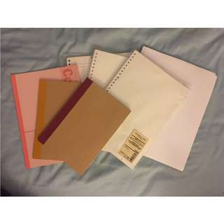 Notebooks and Looseleaf Paper