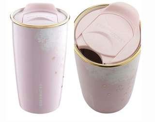Starbuck櫻花系列「超限量」✨落櫻繽紛雙層馬克杯✨