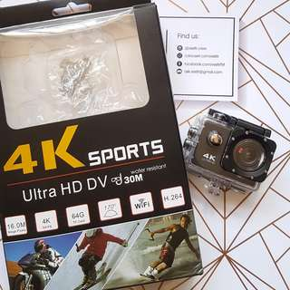 4K Water Resistant Sports/Action Camera (WIFI)