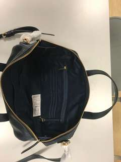 Authentic Fossil Sydney Heritage Blue Leather Satchel